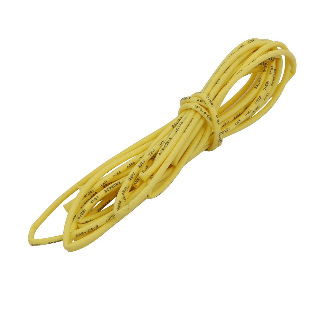 Polyolefin Heat Shrinkable Flame Retardant Tube 2M Long 0.6mm Inner Dia Yellow