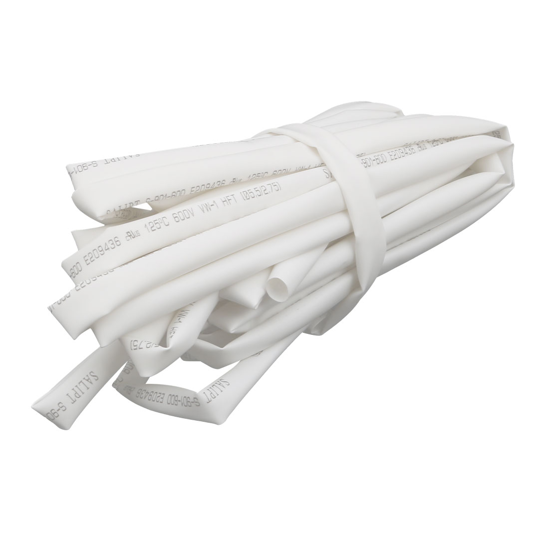 5M Length 5.5mm Inner Dia Polyolefin Insulated Heat Shrink Tube Wire Wrap White