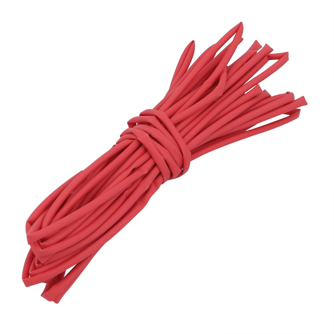 5M Long 1.5mm Inner Dia. Polyolefin Heat Shrinkable Tube Red for Wire Repairing