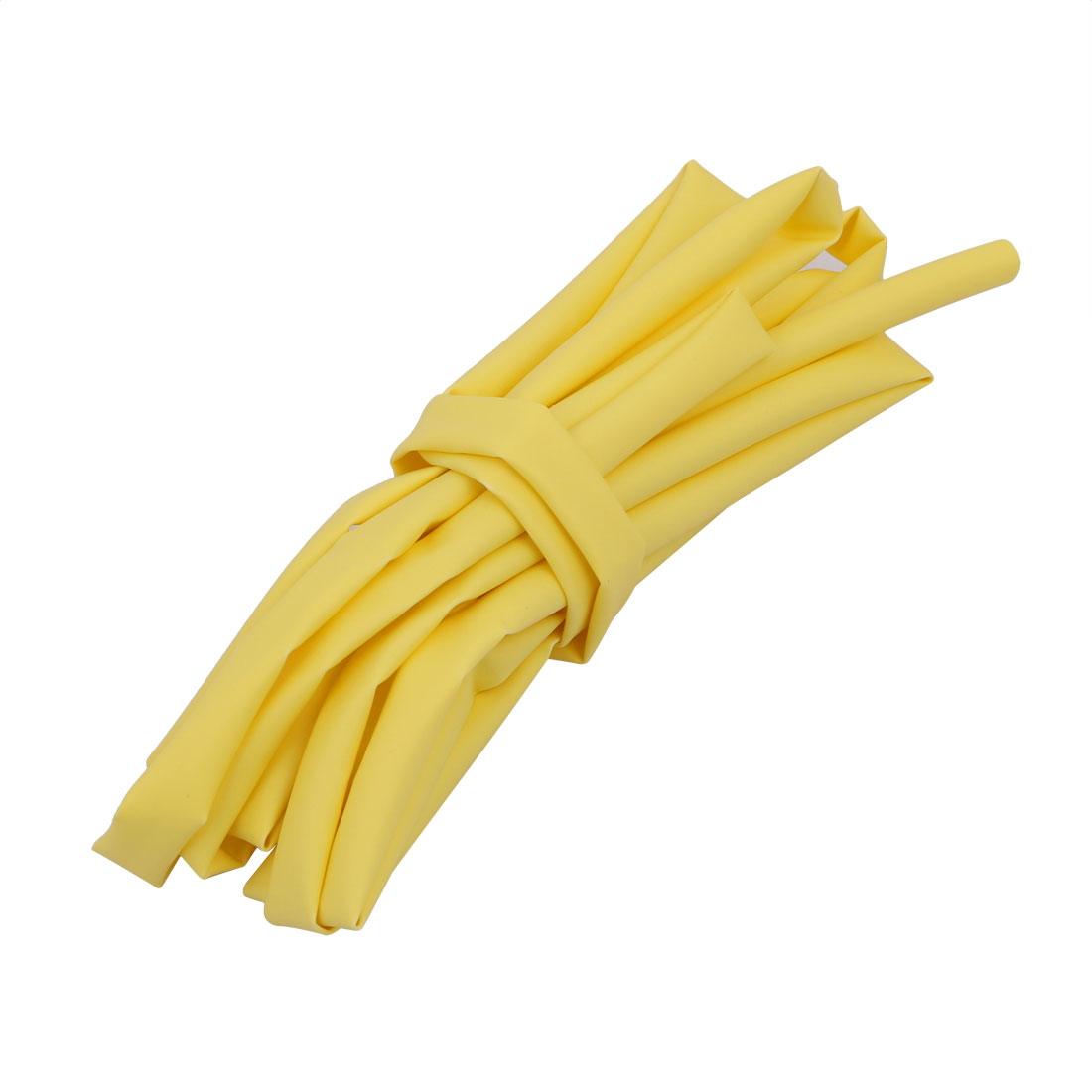 6.6Ft Length 5mm Inner Dia Insulated Heat Shrink Tube Sleeve Wire Wrap Yellow