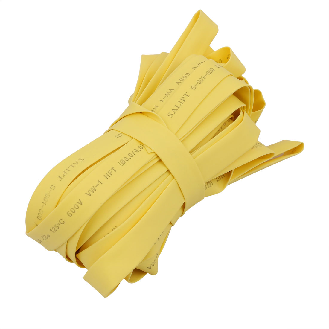 49.2Ft Length 8mm Inner Dia Insulated Heat Shrink Tube Sleeve Wire Wrap Yellow
