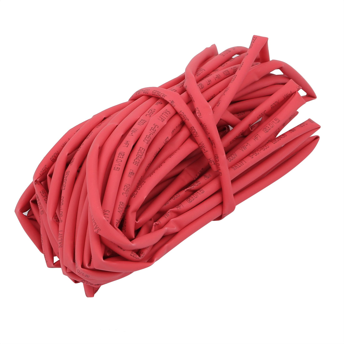 10M Long 3mm Inner Dia. Polyolefin Heat Shrinkable Tube Red for Wire Repairing