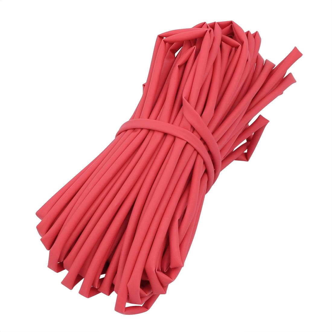 15M Long 2.5mm Inner Dia. Polyolefin Heat Shrinkable Tube Red for Wire Repairing