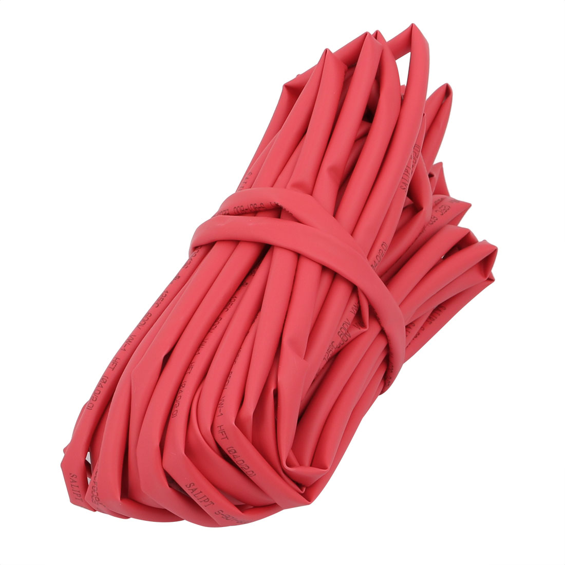 10M Long 4mm Inner Dia. Polyolefin Heat Shrinkable Tube Red for Wire Repairing