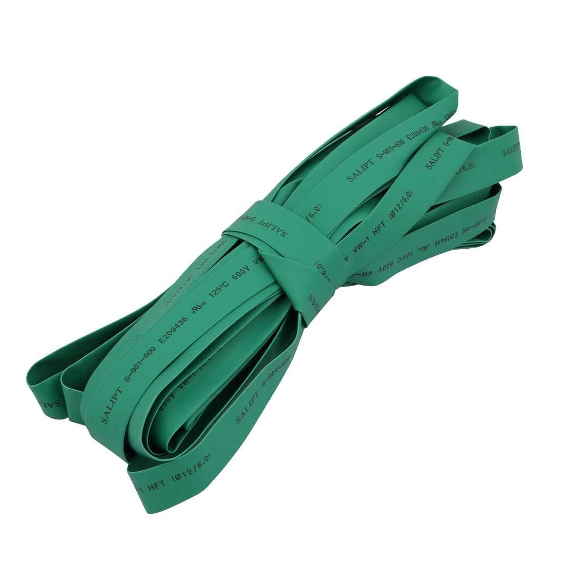 Polyolefin Heat Shrinkable Flame Retardant Tube 10M Length 12mm Inner Dia Green