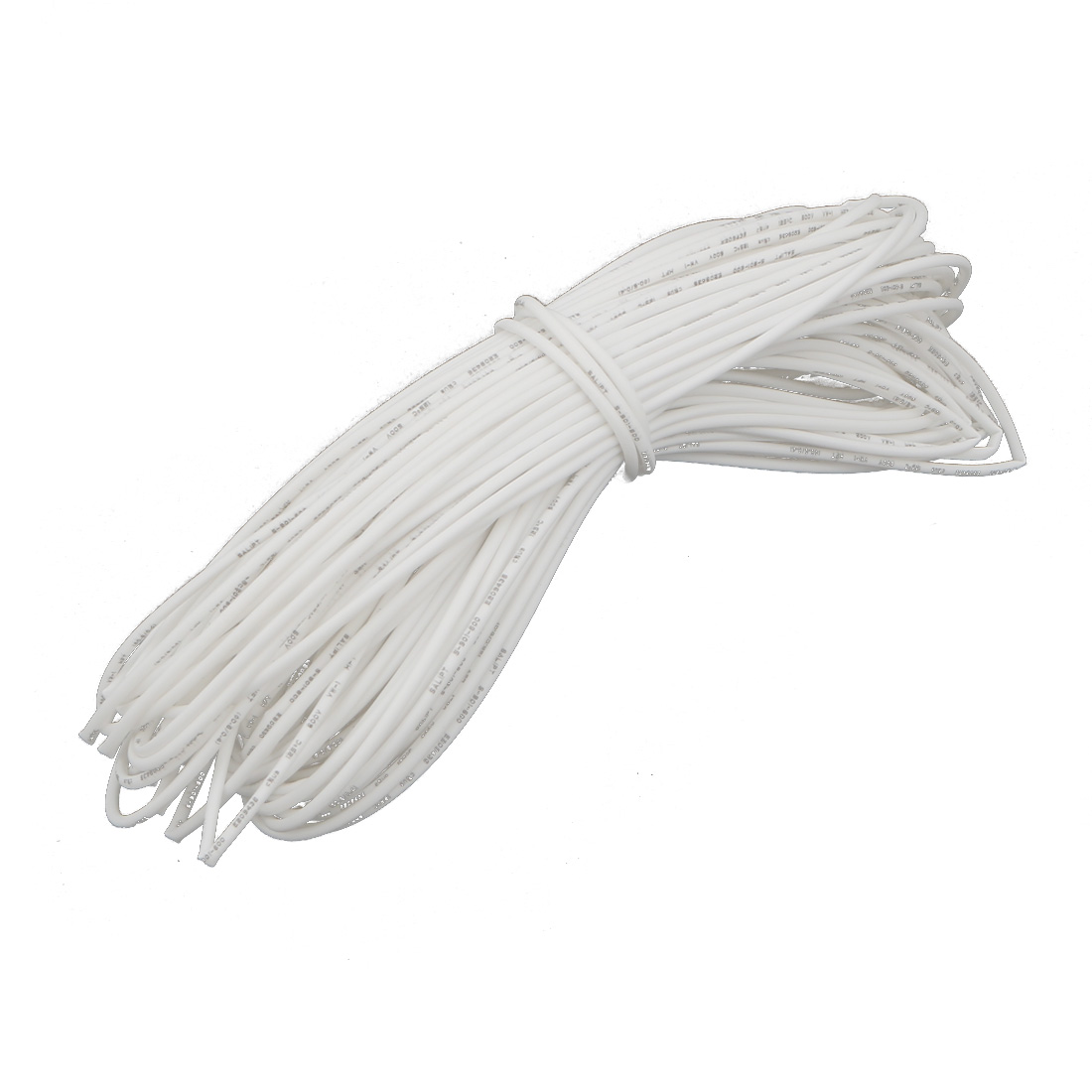 15M Length 0.6mm Inner Dia Polyolefin Insulated Heat Shrink Tube Wire Wrap White