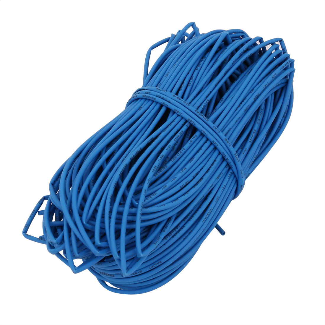 Heat Shrinkable Tube 0.6mm Inner Dia Blue Wire Wrap Cable Sleeve 20 Meters Long