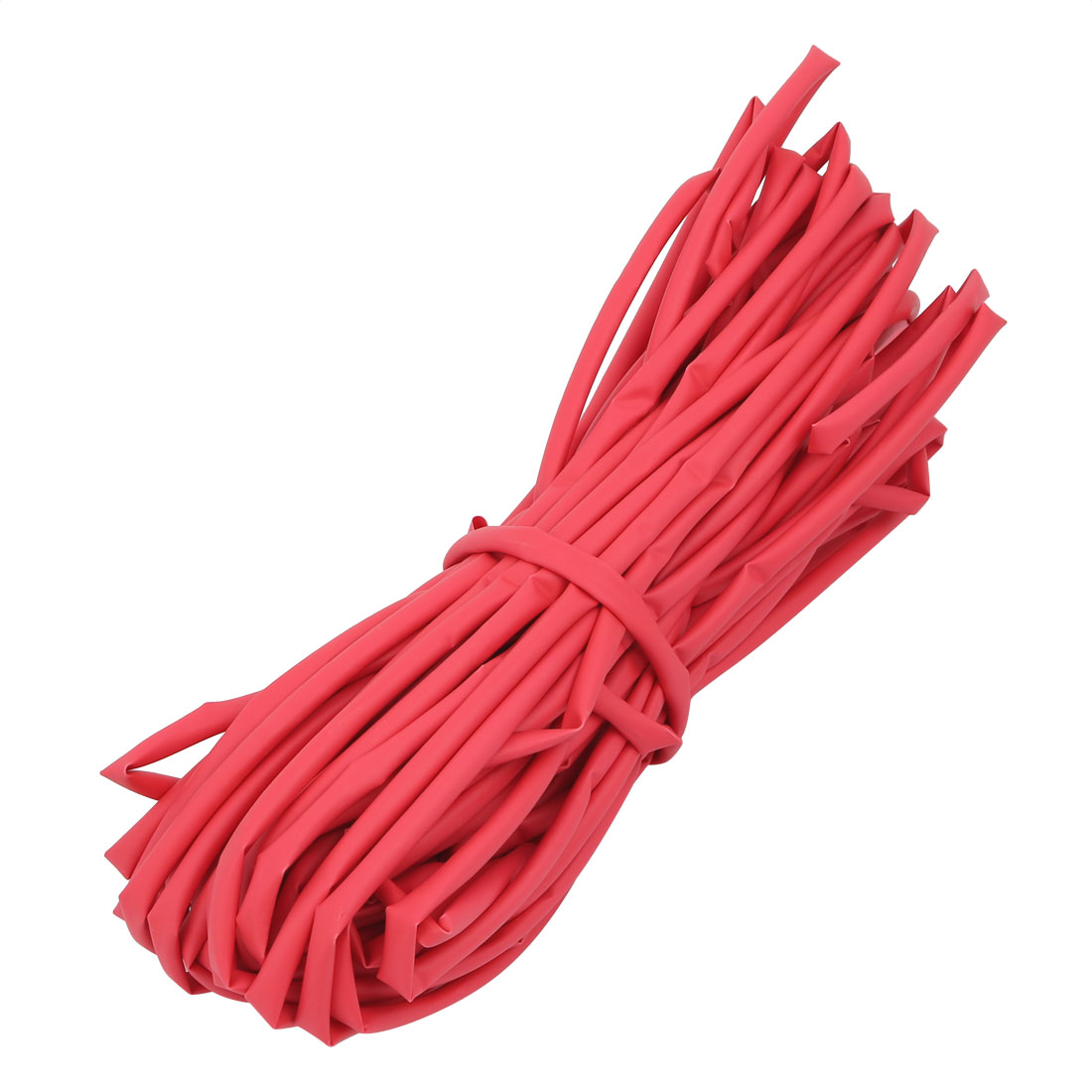 20M 4.5mm Inner Dia Polyolefin Flame Retardant Tube Red for Wire Repairing
