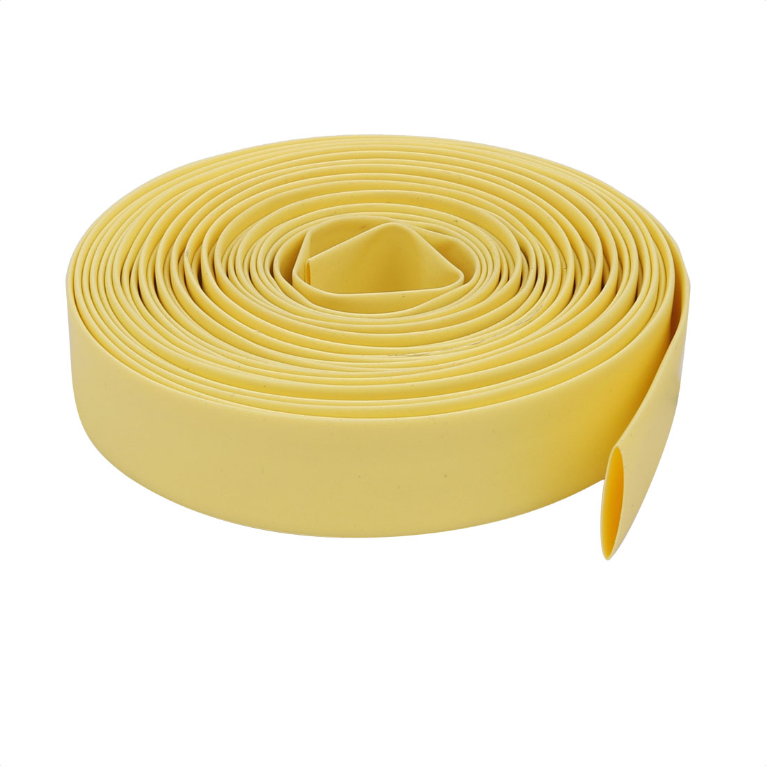 5M 0.4in Inner Dia Polyolefin Flame Retardant Tube Yellow for Wire Repairing