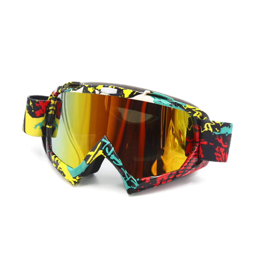 Colorful Plastic Lens Windproof Outdoor Goggles for Motorcycle Motocross