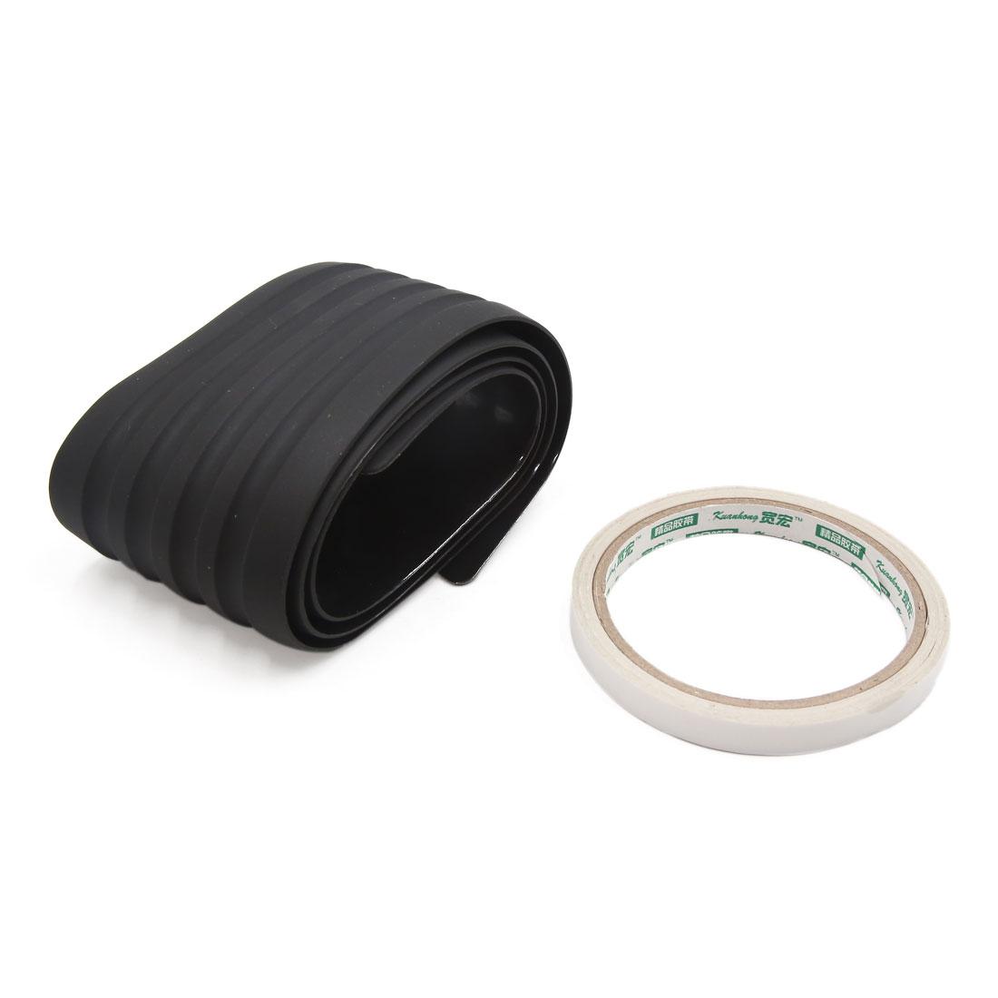 91cm Black Rubber Automobile Car Rear Bumper Edge Guard Protective Strip