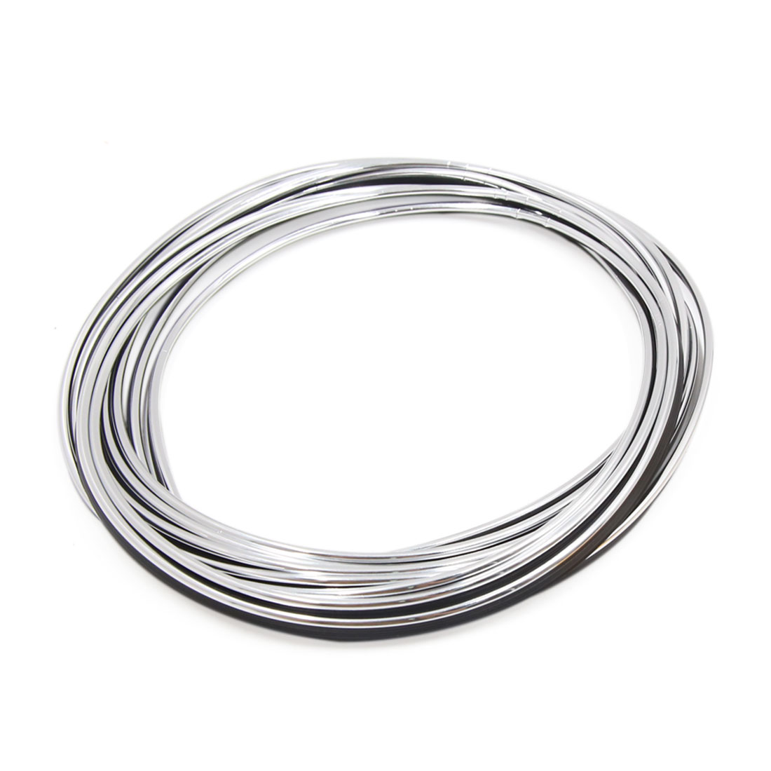 5M Silver Tone Flexible Automotive Car Decorative Moulding Trim Strip Line