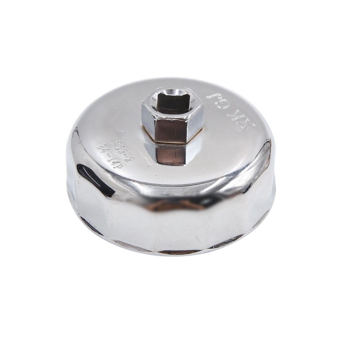 14 Flutes 84mm Inner Diameter Car Truck Cap-Type Oil Filter Wrench Remover Tool