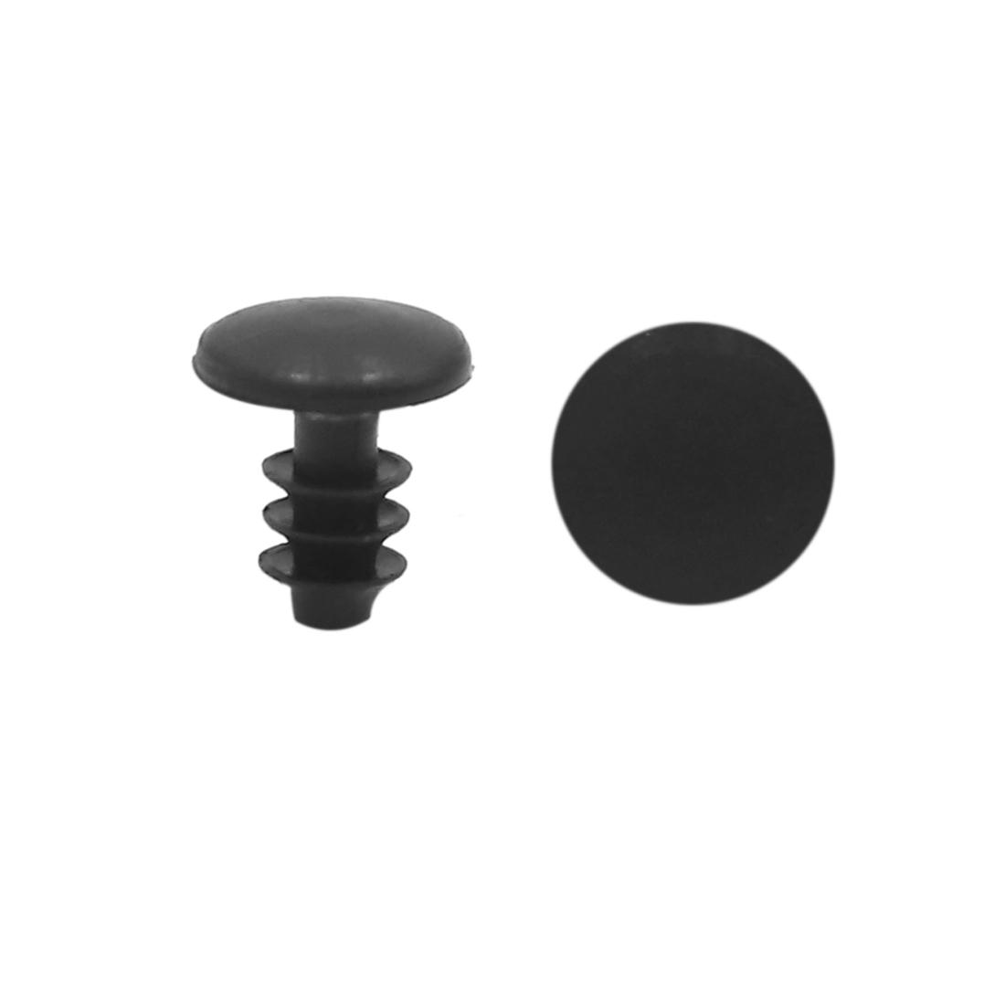 50pcs Black 5mm Hole Diameter Car Door Bumper Fender Plastic Rivets Fasteners