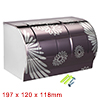 197mmx120mmx118mm 304 Stainless Steel Wall-Mounted Toilet Roll Paper Holder