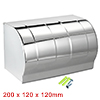 200mmx120mmx120mm 201 Stainless Steel Toilet Paper Holder w Cover Silver Tone