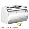 200mmx120mmx125mm 201 Stainless Steel Glossy Paper Holder w Ashtray Plate