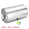 200mmx130mmx125mm 201 Stainless Steel Glossy Rotatable Cylinder Paper Holder