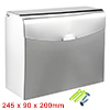 245mmx90mmx200mm 201 Stainless Steel Glossy Hand Paper Holder Box w Cover