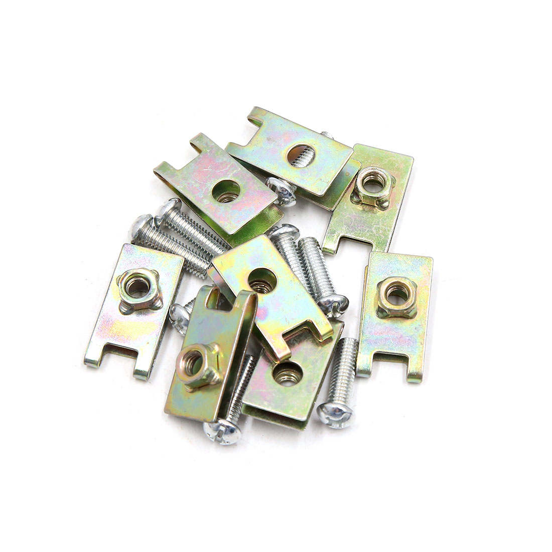 8Pcs 6mm Thread Dia Universal Car License Plate Fastener Clips Kit w Screw