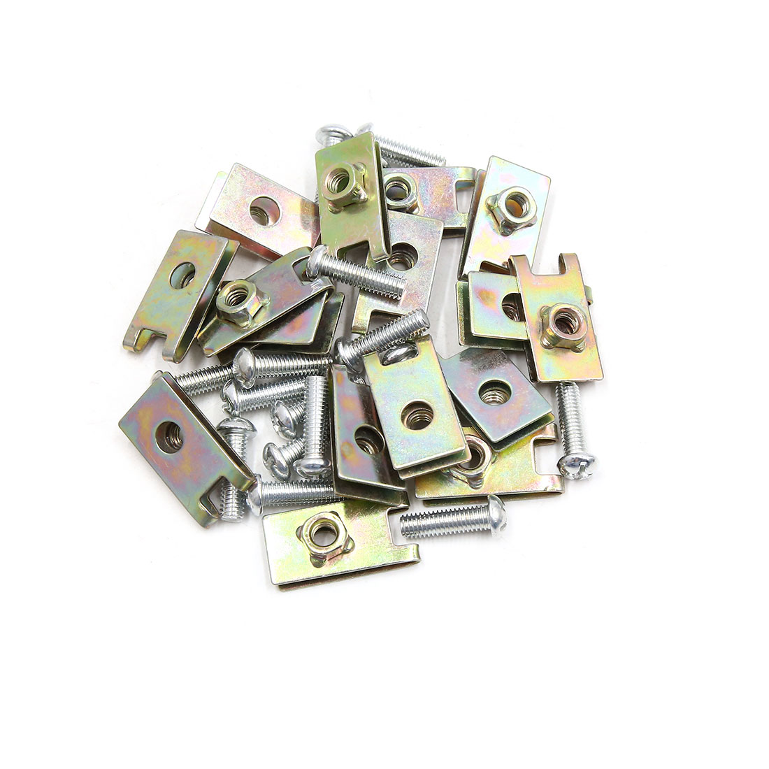 16PCS 6mm Thread Dia License Plate Fixing Clips Kit for Motorcycle Car