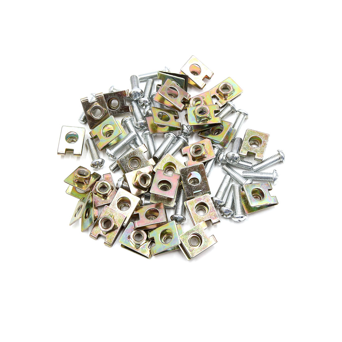 30PCS 6mm Thread Dia Universal License Plate Fixing Clips Kit for Car w Screws