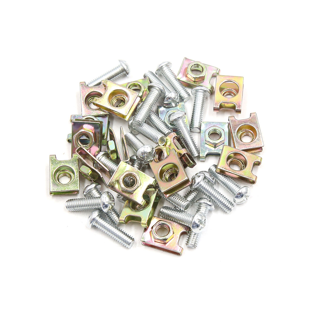 20PCS 6mm Thread Dia License Plate Fairing Fixing Clips Kit w Screw for Car
