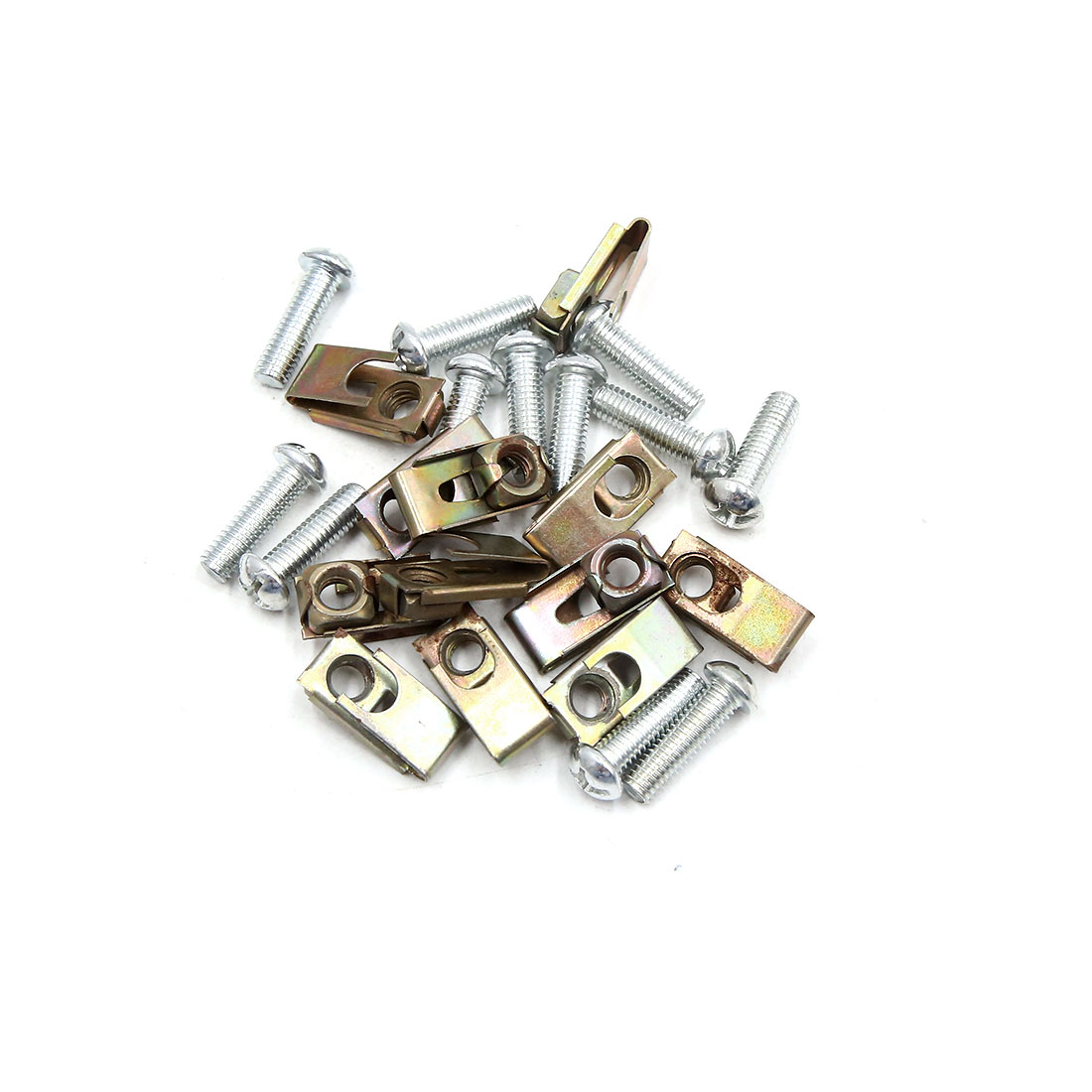 12PCS 6mm Thread Dia Car License Plate Fairing Fastener Fixing Clips Kit w Screw