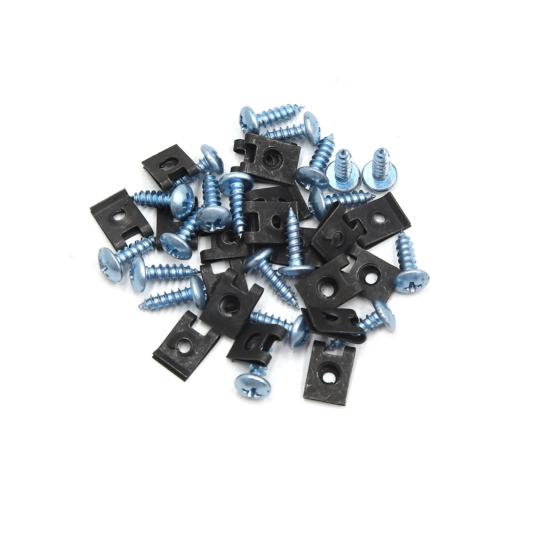 20PCS 4mm Thread Dia License Plate Fairing Clips Kit for Motorcycle Car w Screws