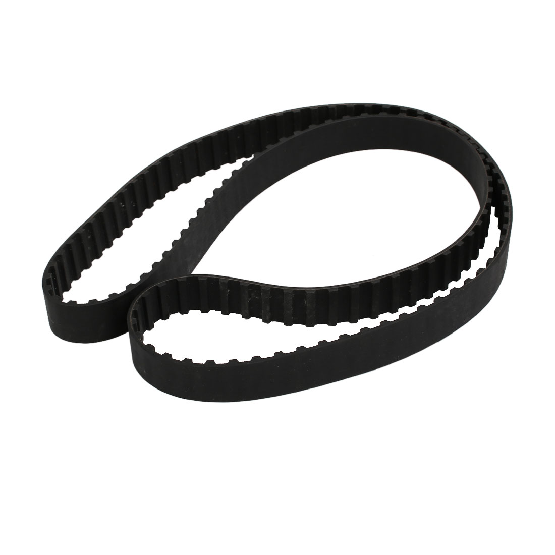 457L 122 Teeth 20mm Width 9.525mm Pitch Stepper Motor Rubber Timing Belt Black