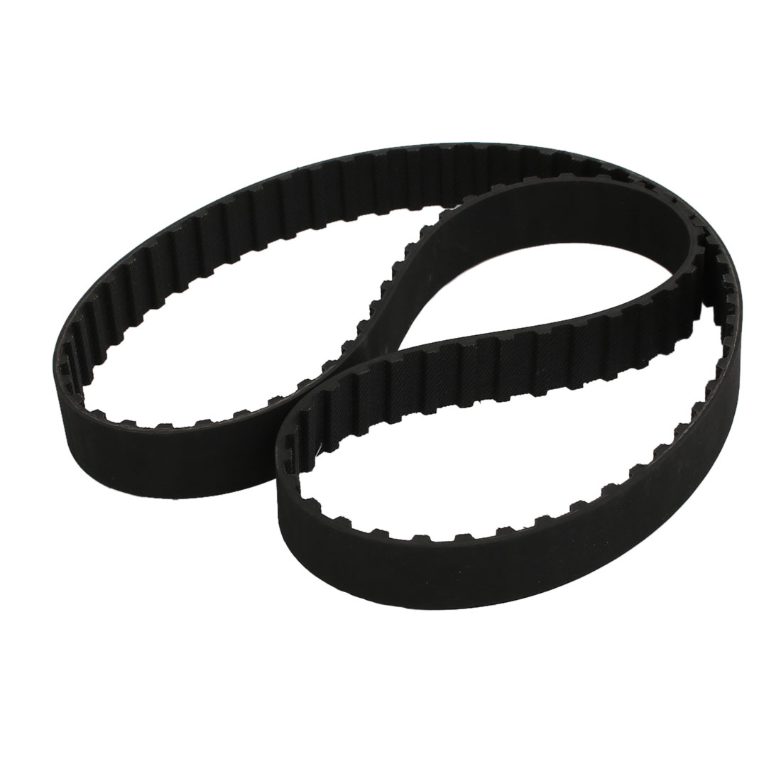 341L 91 Teeth 20mm Width 9.525mm Pitch Stepper Motor Rubber Timing Belt Black