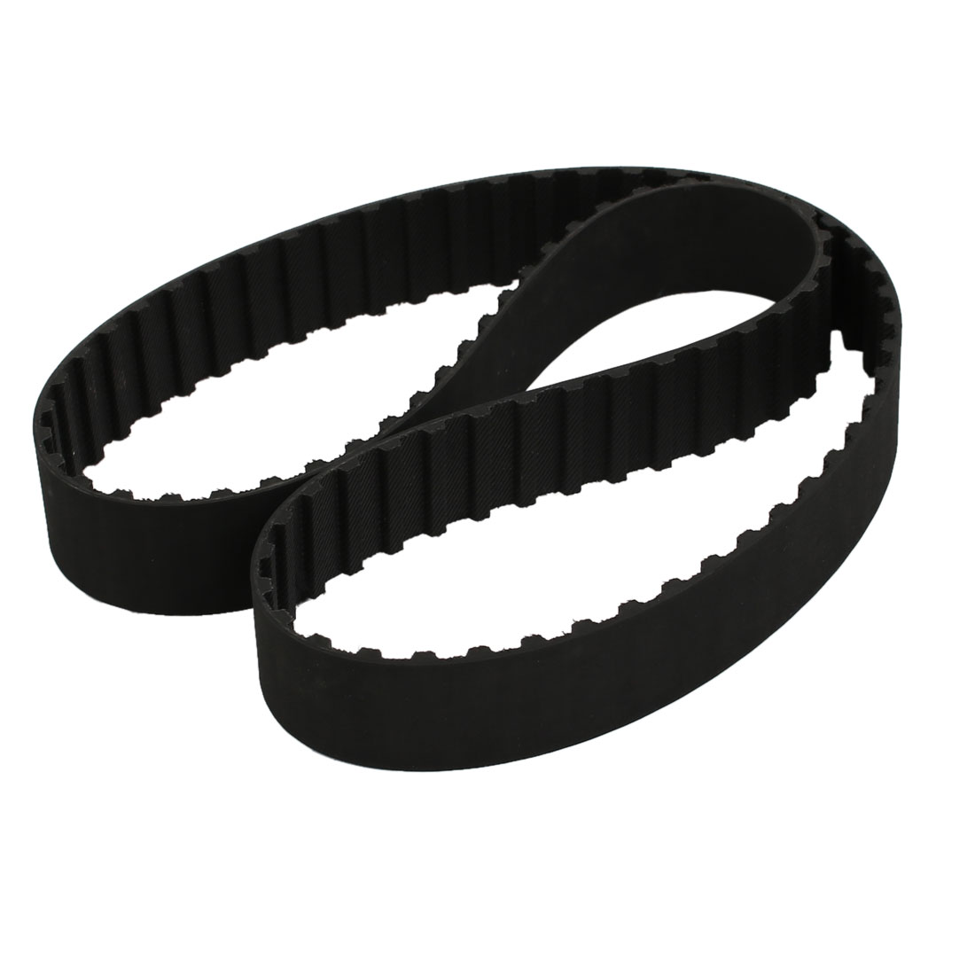 322L 86 Teeth 25mm Width 9.525mm Pitch Stepper Motor Rubber Timing Belt Black