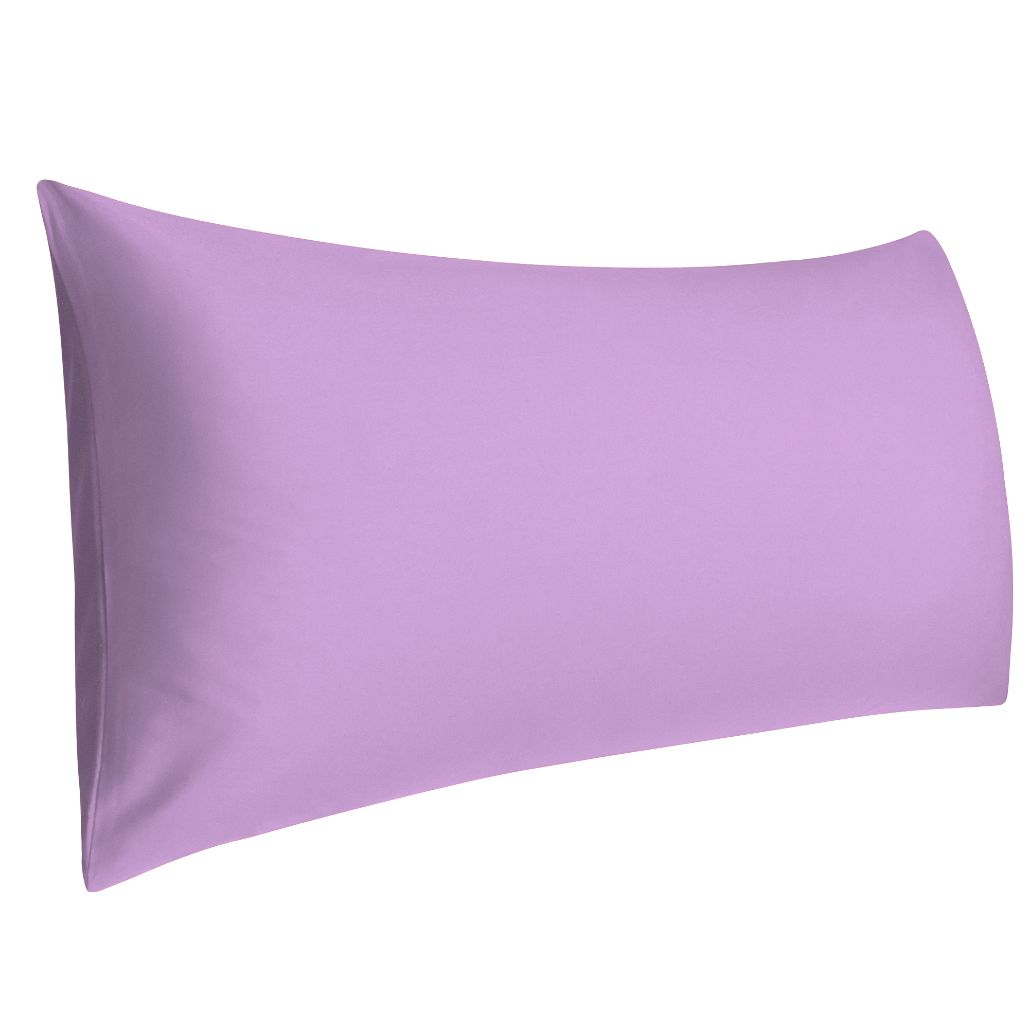 Cotton 300 Thread Count Egyptian Body Size Pillowcases Pillow Cases Covers Light Purple 1 Piece