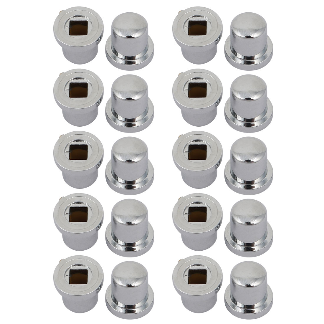 20pcs 10mm x 7.4mm x 9.5mm Plastic Potentiometer Volume Control Rotary Knob