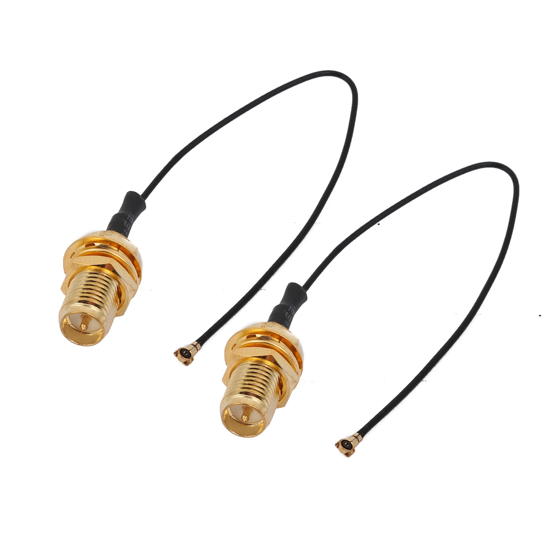 2pcs RF0.81 IPEX 4 to RP-SMA Antenna WiFi Pigtail Cable 10cm Long for Router