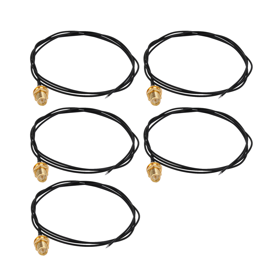 5pcs RF1.13 Soldering Wire SMA Male Connector Antenna WiFi Pigtail Cable 80cm Long