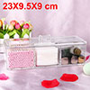 Acrylic Makeup Organizer Drawers Cosmetic Brushes Lipstick Holder Jewelry Storage Case Top and Bottom Set(3 Grid Single Layer)