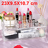 Acrylic Makeup Organizer Drawers Cosmetic Brushes Lipstick Holder Jewelry Storage Case Top and Bottom Set(Top + Bottom Set)