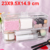Acrylic Makeup Organizer Drawers Cosmetic Brushes Lipstick Holder Jewelry Storage Case Top and Bottom Set(3 Gird 2 Layer)