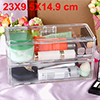 Acrylic Makeup Organizer Drawers Cosmetic Brushes Lipstick Holder Jewelry Storage Case Top and Bottom Set(2 Large Layer)