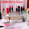 Acrylic Makeup Organizer Drawers Cosmetic Brushes Lipstick Holder Jewelry Storage Case Top and Bottom Set(Lipsticks Holder + Bottom Set)