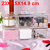 Acrylic Makeup Organizer Drawers Cosmetic Brushes Lipstick Holder Jewelry Storage Case Top and Bottom Set(6 Grid 2 Layer)