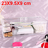 Acrylic Makeup Organizer Drawers Cosmetic Brushes Lipstick Holder Jewelry Storage Case Top and Bottom Set(Single Layer)
