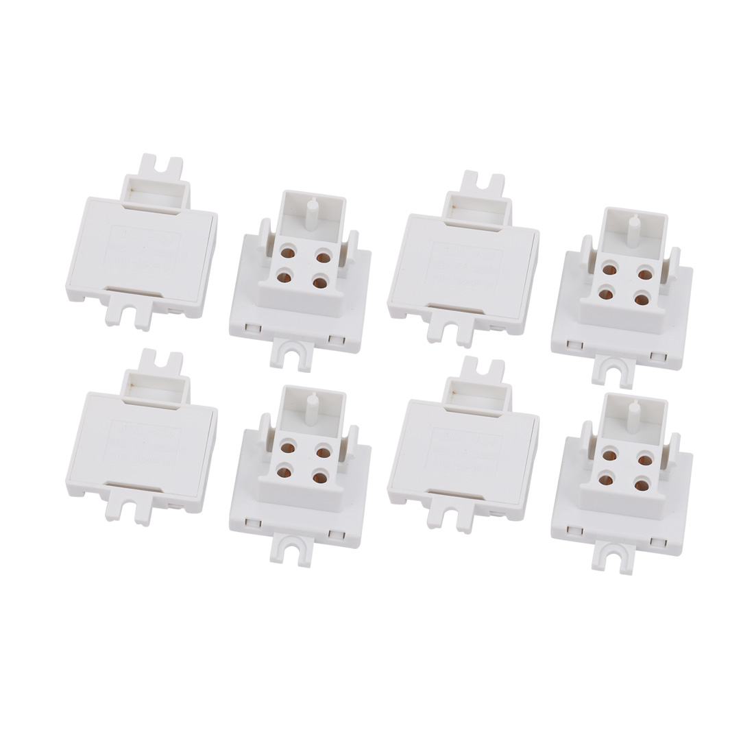 8Pcs G10Q-F34D AC 500V 2A Light Socket Base Fluorescent Tube Lamp Holder