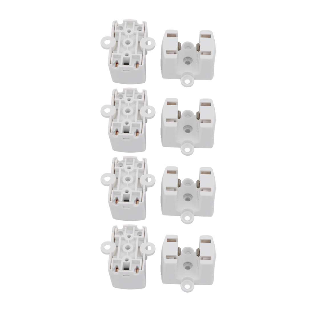 8 Pcs F34B AC 500V 2A 2GX13 Base Light Socket PL Fluorescent Tube Lamp Holder