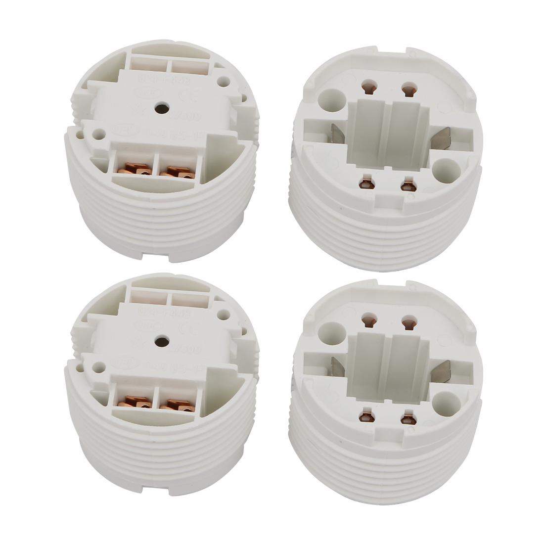 4 Pcs F448Q AC 500V 2A G24 Base H Light Socket Fluorescent Tube Lamp Holder