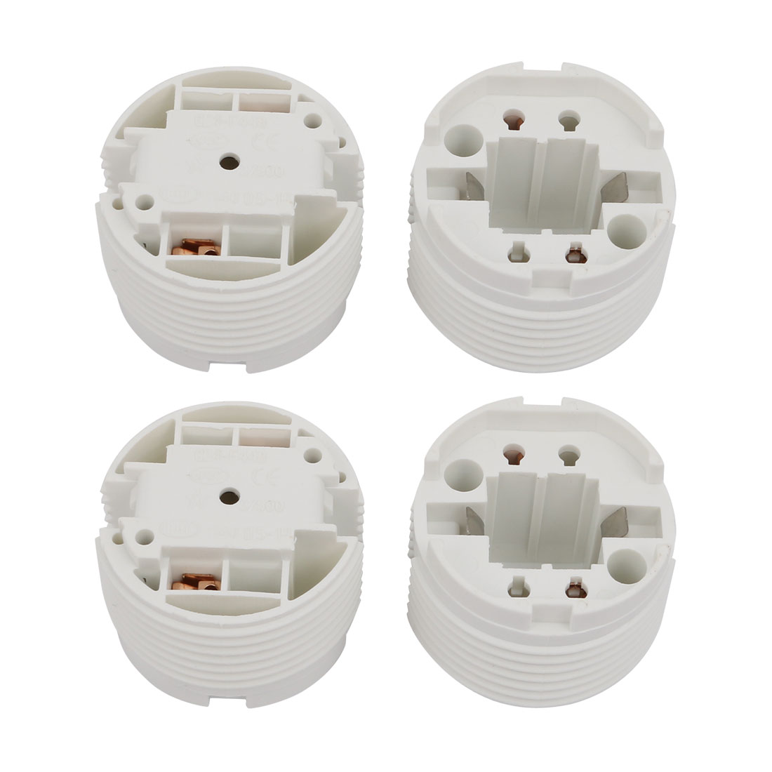 4 Pcs F448D AC 500V 2A G24 Base H Light Socket Fluorescent Tube Lamp Holder