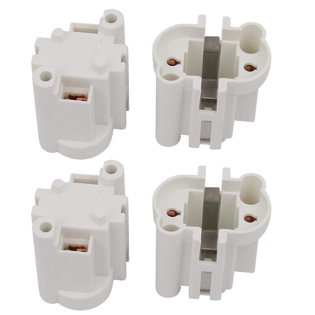 4Pcs G23-F269 AC 500V 2A Light Socket Base Fluorescent PL Tube Lamp Holder