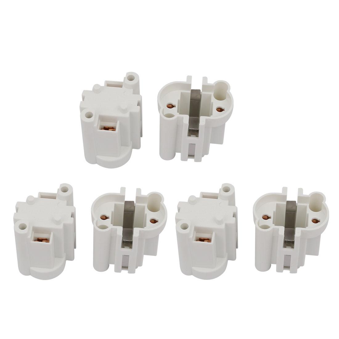 6 Pcs G23-F269 AC 500V 2A Light Socket Base Fluorescent PL Tube Lamp Holder