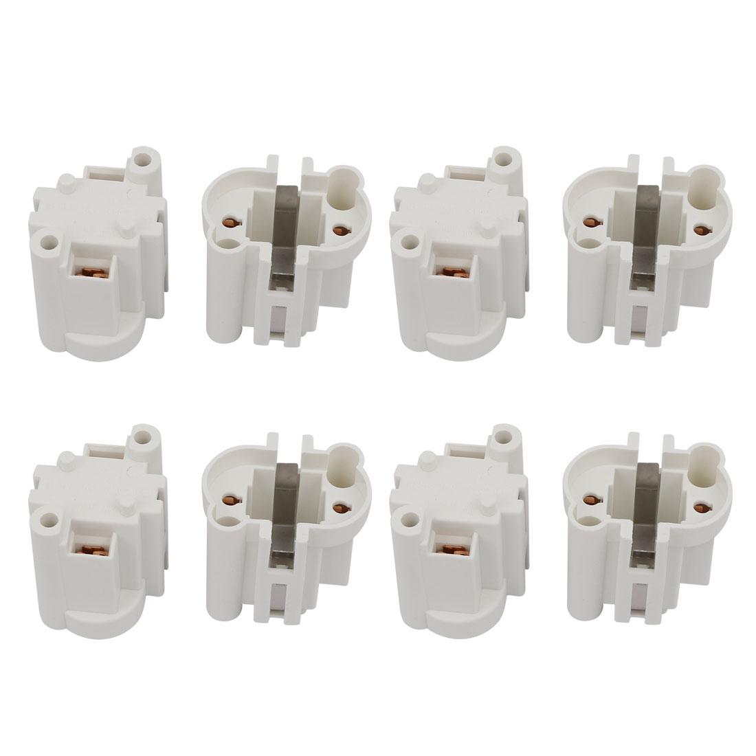 8 Pcs G23-F269 AC 500V 2A Light Socket Base Fluorescent PL Tube Lamp Holder